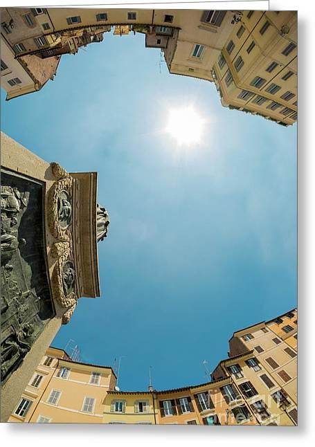 Sky Over Campo Dei Fiori - Rome, Italy Greeting Card