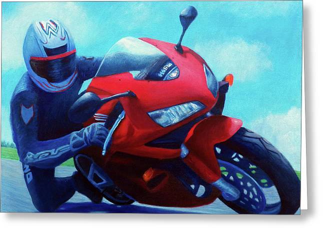 Sky Pilot - Honda Cbr600 Greeting Card by Brian  Commerford