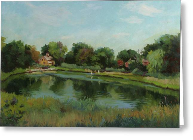 Sky Pond Greeting Card by Bruce Zboray
