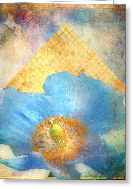 Blue Flowers Greeting Cards - Sky Poppy Greeting Card by Aimee Stewart