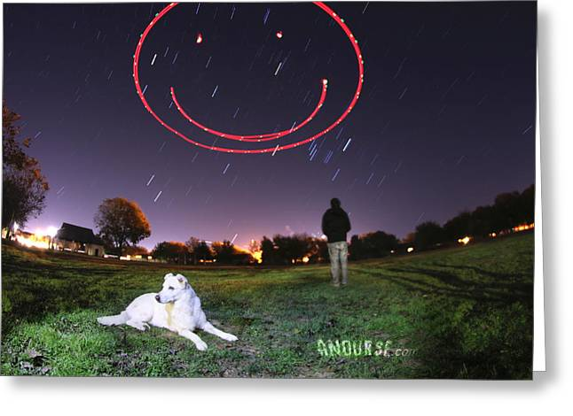 Sky Smile Greeting Card by Andrew Nourse