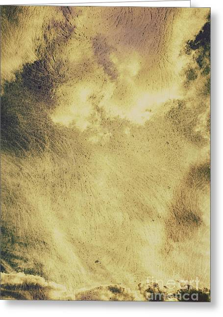 Sky Texture Background Greeting Card