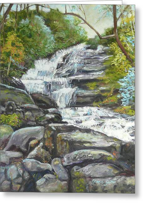 Sky Valley Waterfall Greeting Card