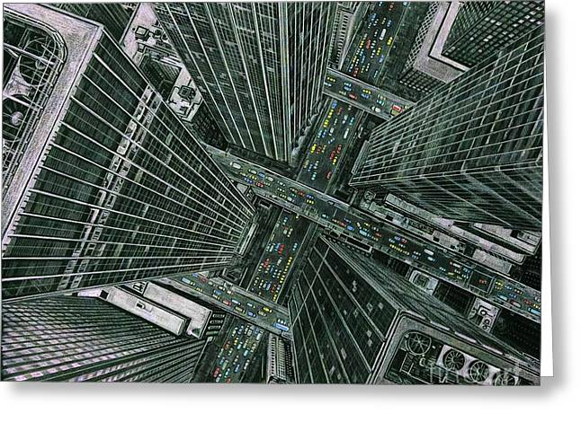 Sky View City Greeting Card