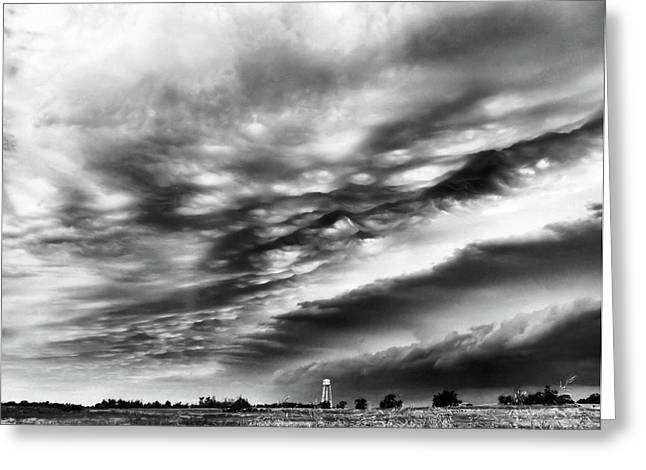 Sky Waves Greeting Card by Karen M Scovill