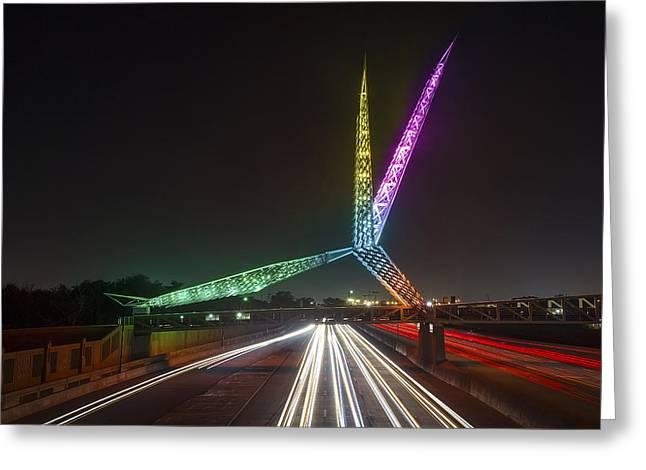 Skydance Bridge Okc Greeting Card