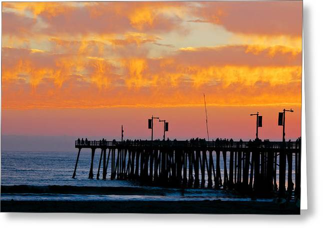 Skyfall At Pismo Beach Pier Greeting Card