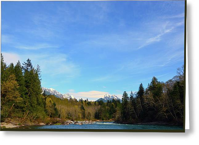 Skykomish River And Persis Greeting Card