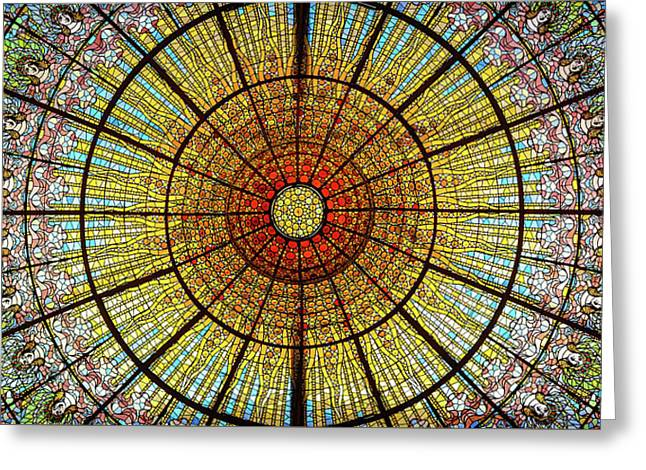 Skylight Greeting Card by Michael Weber