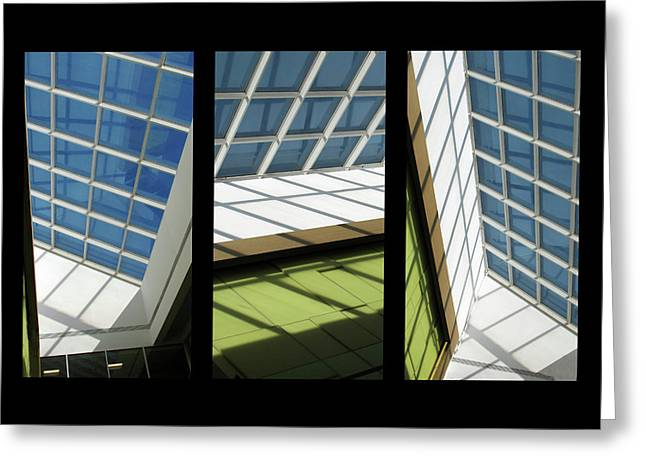 Skylight Triptych II Greeting Card by Jessica Jenney