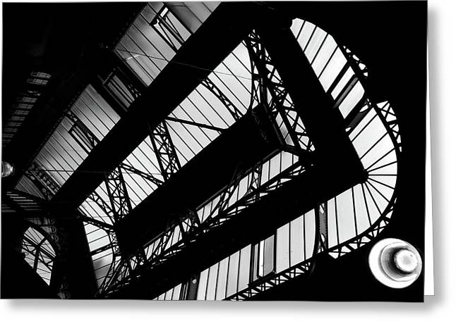 Skylights - Leeds Market  Greeting Card by Philip Openshaw