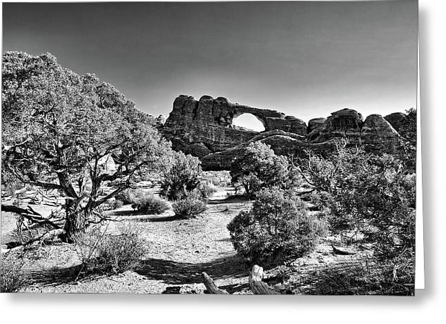 Skyline Arch In Arches National Park Greeting Card