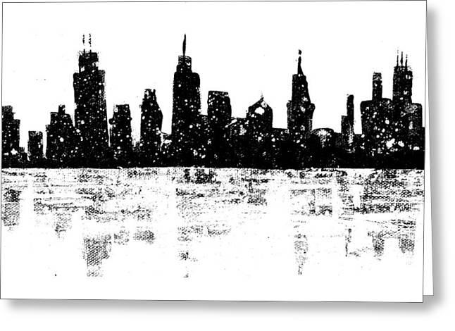 Skyline By Laura Gomez Greeting Card