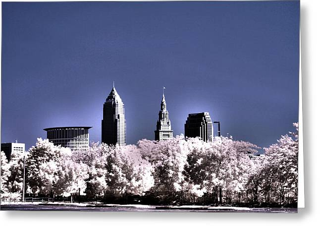 Skyline Cleveland, Ohio Greeting Card by Bob LaForce