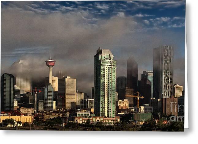 Skyline Fog Greeting Card by Brad Allen Fine Art