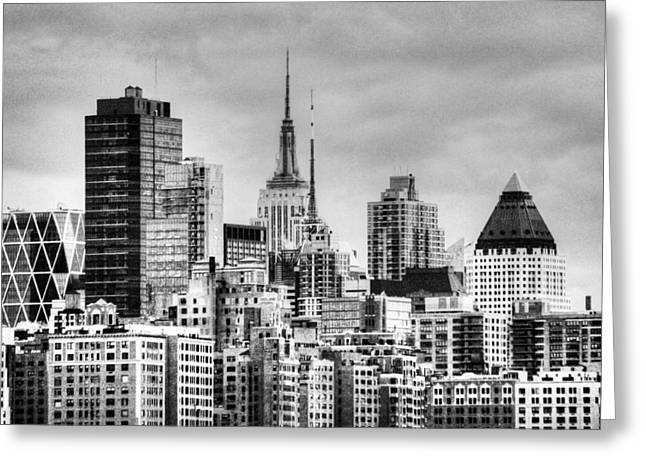 Greeting Card featuring the photograph Skyline Infrared 2 by Dave Beckerman