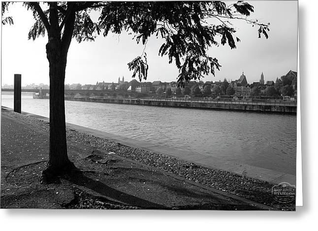 Skyline Maastricht Greeting Card by Nop Briex