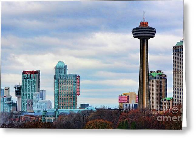 Greeting Card featuring the photograph Skyline Niagara by Traci Cottingham