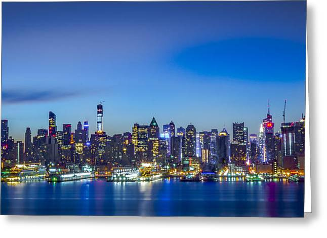 Skyline Nyc Before Sunrise Greeting Card