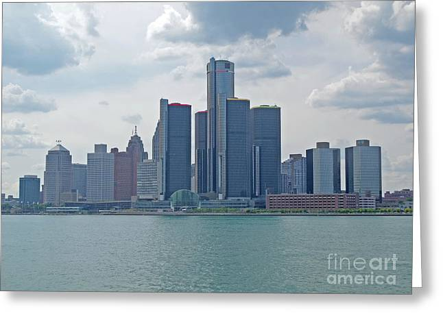 Skyline Of Detroit Greeting Card