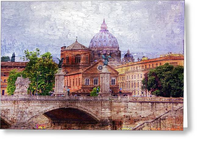 Skyline Of Rome Greeting Card by Brian Lukas