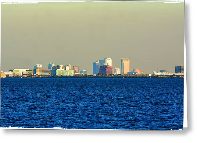 Skyline Of Tampa Bay Florida Greeting Card by Lisa Wooten