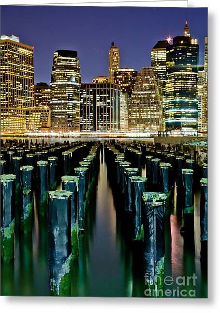 Skyline Perspective Greeting Card by Az Jackson