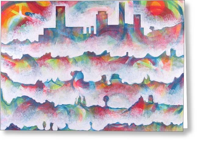 Skyline Greeting Card by Rollin Kocsis