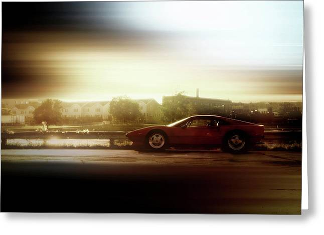 Menasha Greeting Cards - Skyline Speed Greeting Card by Joel Witmeyer