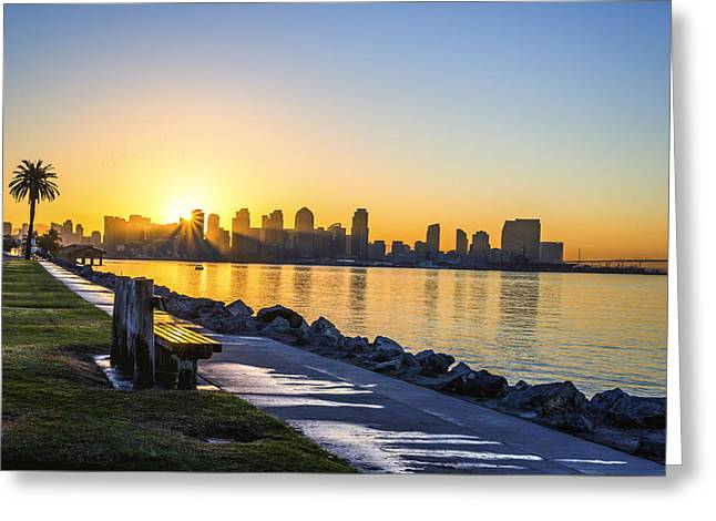 Skyline Sunrise Greeting Card