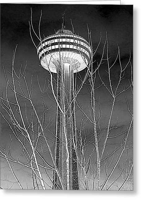 Greeting Card featuring the photograph Skylon Tower by Valentino Visentini