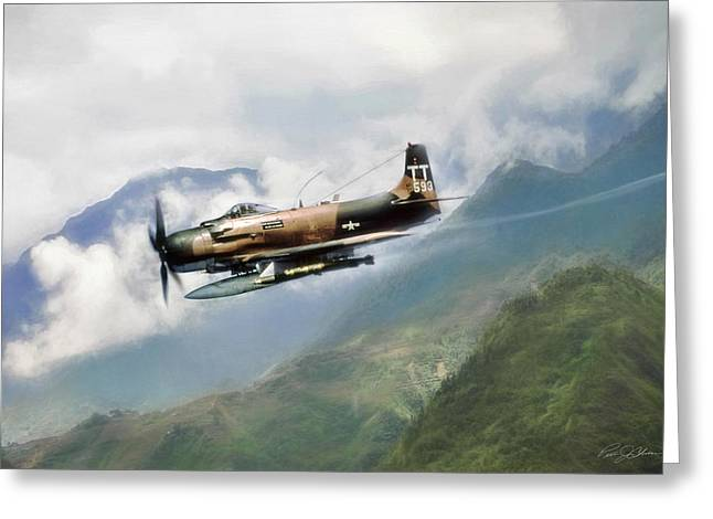 Skyraider Greeting Card by Peter Chilelli