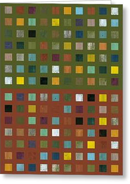 Skyscraper Abstract Ll Greeting Card by Michelle Calkins