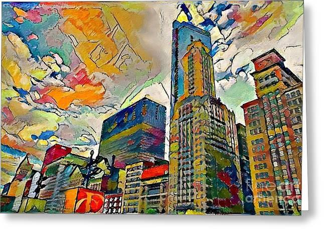 Skyscraper In Color Greeting Card