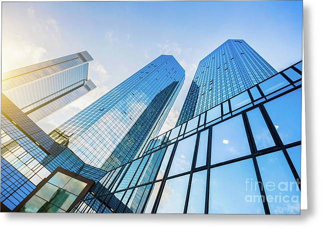 Skyscrapers Greeting Card by JR Photography