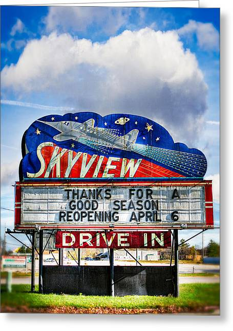 Skyview Drive-in Theater Greeting Card by Robert  FERD Frank