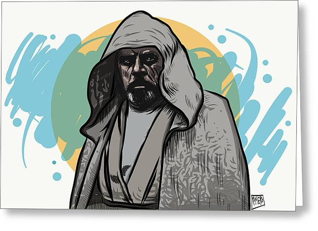 Greeting Card featuring the digital art Skywalker Returns by Antonio Romero
