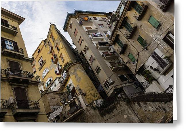 Skyward In Naples Italy - Spanish Quarters Take Four Greeting Card
