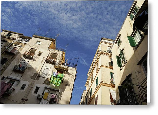 Skyward In Naples Italy - Spanish Quarters Take One Greeting Card