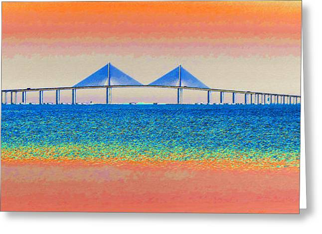 Panoramic Ocean Digital Greeting Cards - Skyway Morning Greeting Card by David Lee Thompson