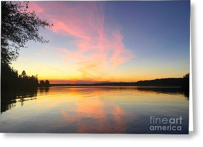 Slack Tide Greeting Card by Sean Griffin