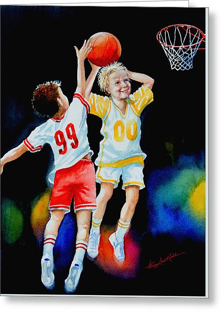 Slam Dunk Greeting Card by Hanne Lore Koehler