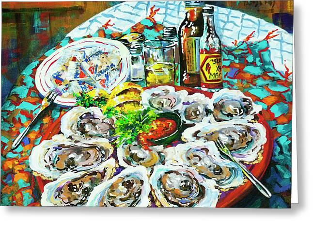 Slap Dem Oysters  Greeting Card
