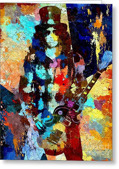 Slash Grunge Greeting Card