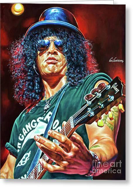 Slash - Guns 'n Roses Greeting Card