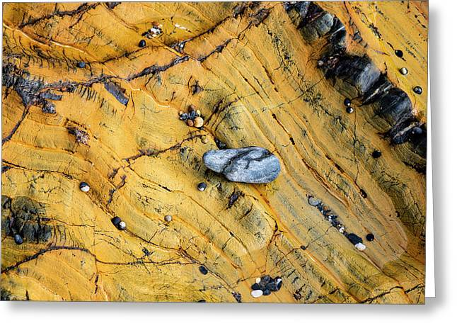 Slate Cobble On Rock Greeting Card