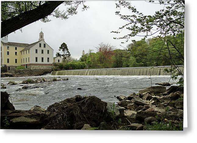 Slater Mill And Dam Greeting Card