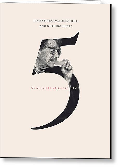 Slaughterhouse Five, Kurt Vonnegut Greeting Card by Connor Sorhaindo