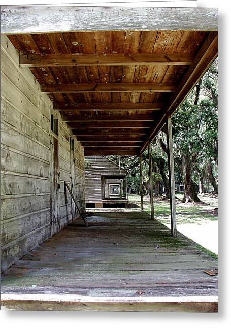 Slave Cabin Row - Laurel Valley Greeting Card by Paul Michaels