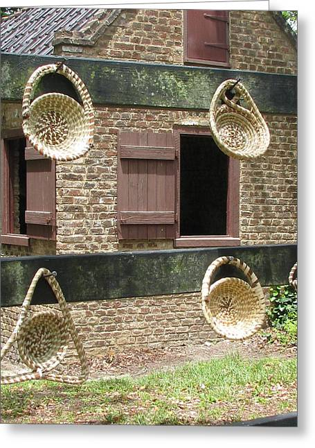 Slave Shack And Sweet Grass Baskets Greeting Card by Staci-Jill Burnley